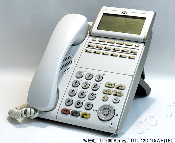 NEC DTL-12D-1D(WH)TEL  12ボタンデジタル多機能電話機(WH) 中古