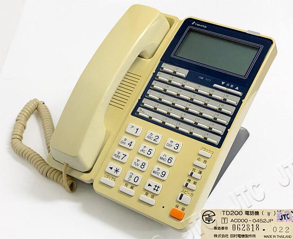 田村電機 TD200電話機(W) 32ボタン電話機