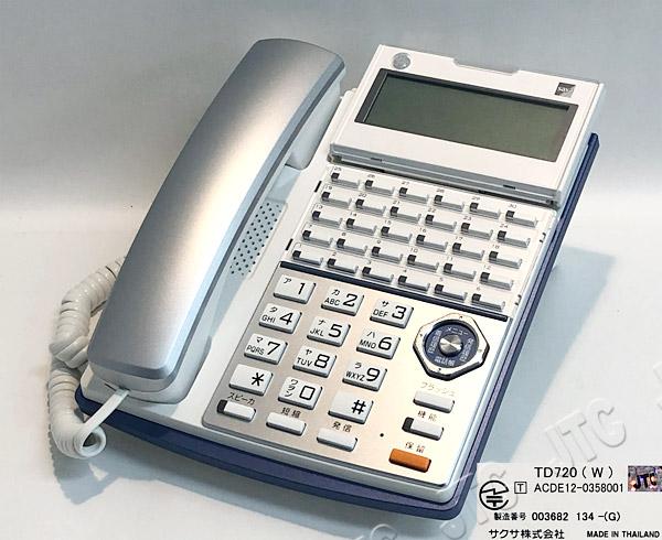 SAXA サクサ TD720(W) 30ボタン ハンズフリー通話機能付き電話機