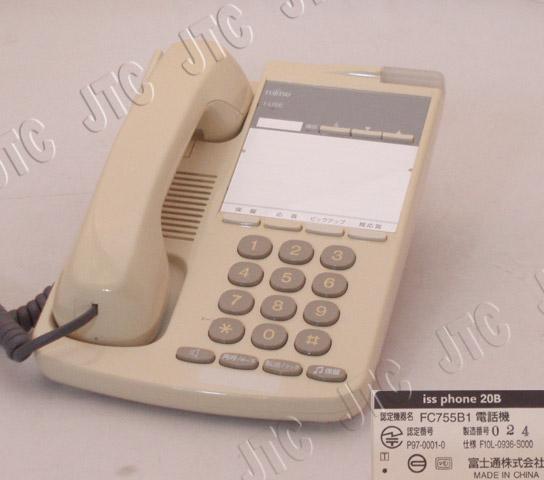 富士通 iss phone 20B FC755B1電話機 白